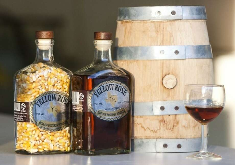 Yellow Rose Distilling's new Outlaw Bourbon Whiskey. The Pinehurst area distillery recently won several awards.