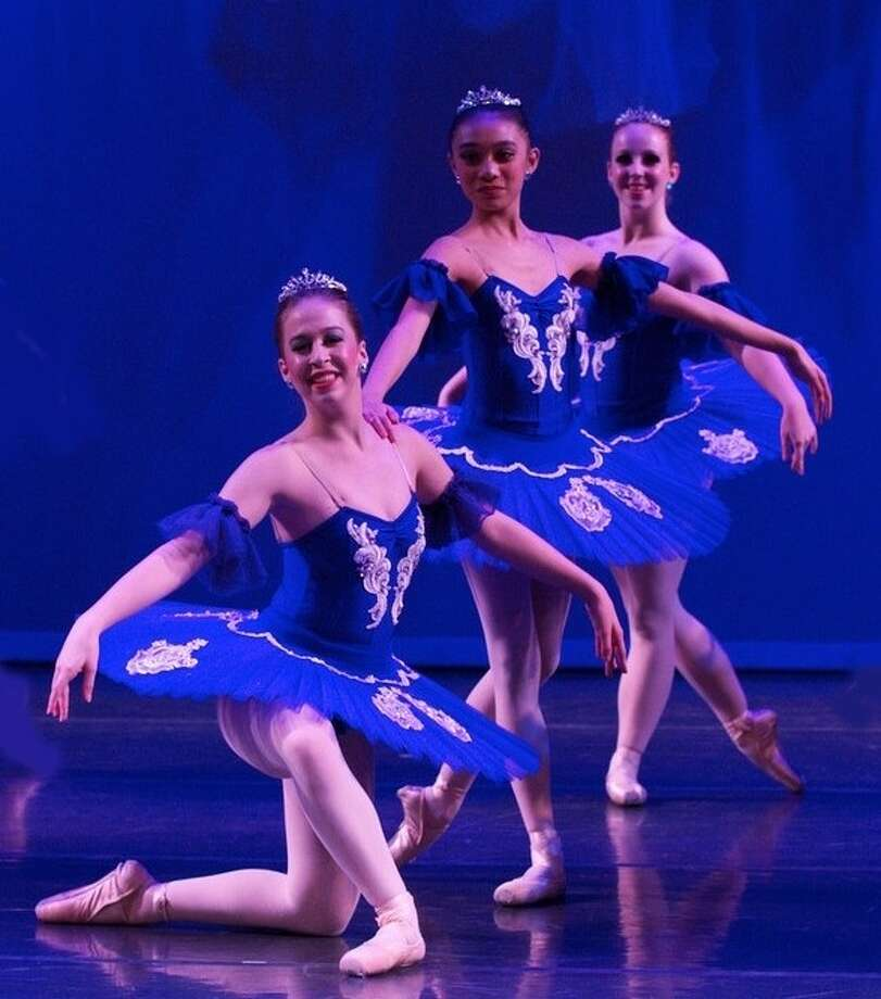 "Ballet Jete' Company members Caroline Senter, Cherilene Guzman and Michelle McKay take the stage for ""Enchanted Evening."""