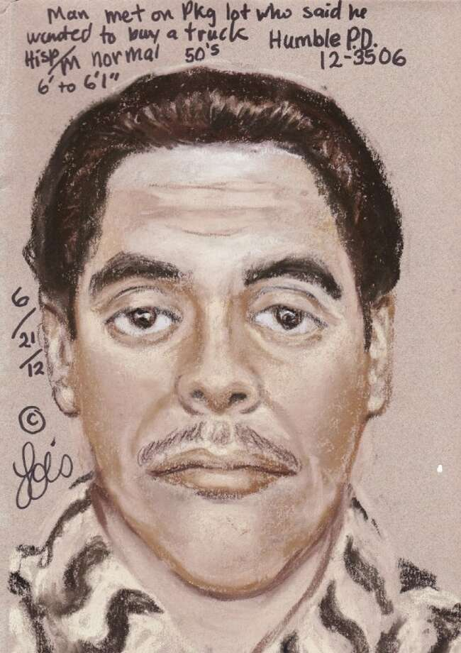 Humble Police release sketch of suspect in kidnapping, robbery of car salesman