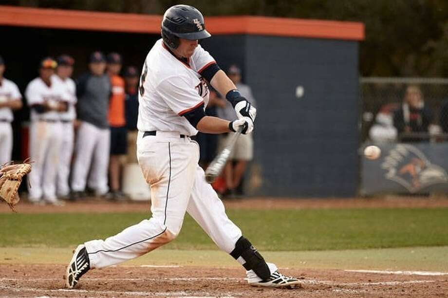UT San Antonio infielder R.J. Perucki hit a game-ending home run to lift the Roadrunners to a playoff victory in the WAC Tournament. Photo: Jeff Huehn