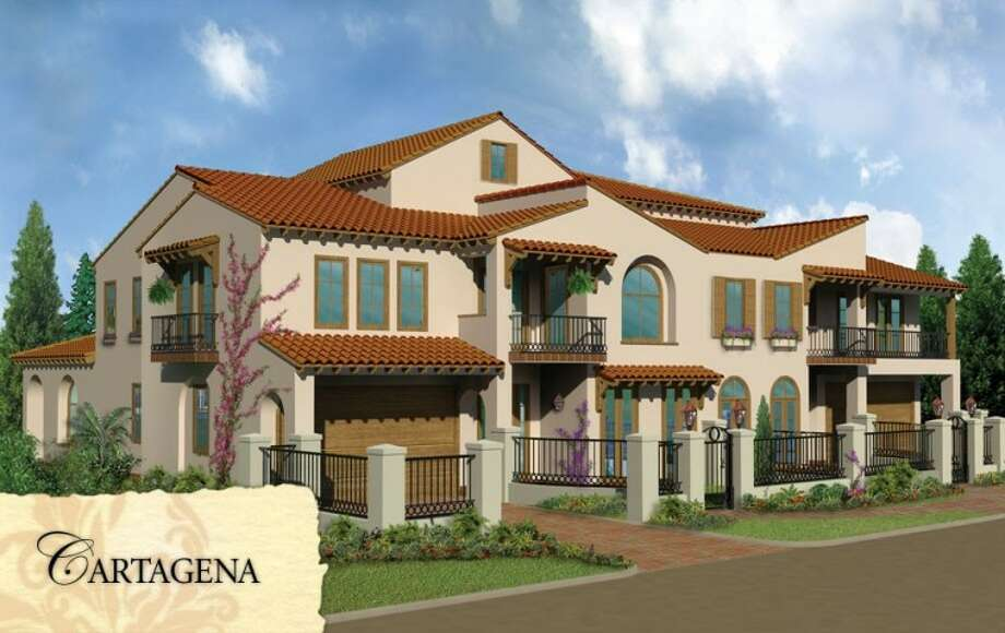 A rendering shows the Cartagena model offered at Lakeside Cove.