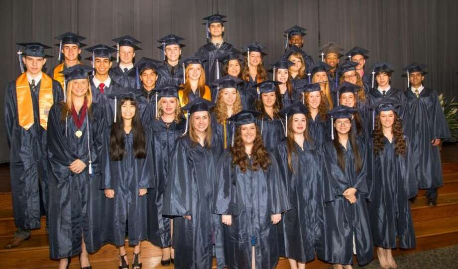 Humble Area 2013 Home School Graduates are front row left, Vivienne Salisbury, Ariel Flanery, Ariel Byrnes, Lydia Kowis, Kathleen Miller. Second row from left, Chelsie Bilger, Amber Stevens, Katie Farrell, Jessica Monzon, Ashton Walker, Hannah McDuffee and Summer Long. Third row from left, Beau Pilch, Isaac Acay, Anthony Bender, Sarah Settegast, Tiffany Chen, Mary Millican, Kendell Overton, Madison Stratton, Austin Williams and Levi Obregon. Back row from left, Nathan Pyle, Branson Ruddell, Jakeb Spears, Jacob Mosher, Hannah Johnson, Chelsea Grant, Grant Sylvester, Carlton Smith and Jacob Peters.