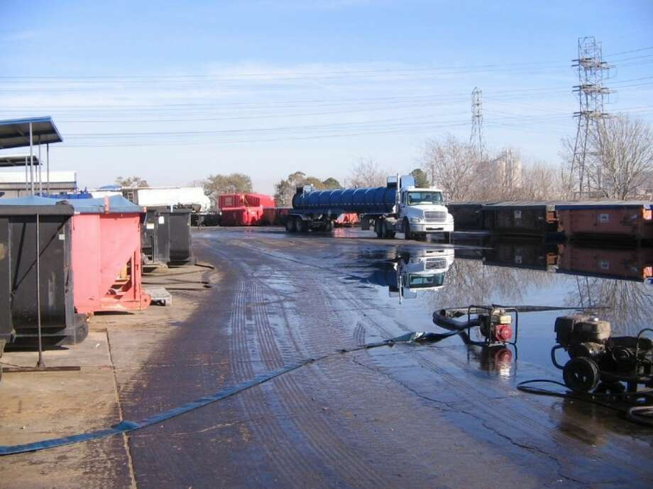 This is a photo of one of the oil spills that occurred at the U. S. Oil Recovery site. Photo: Submitted Photo