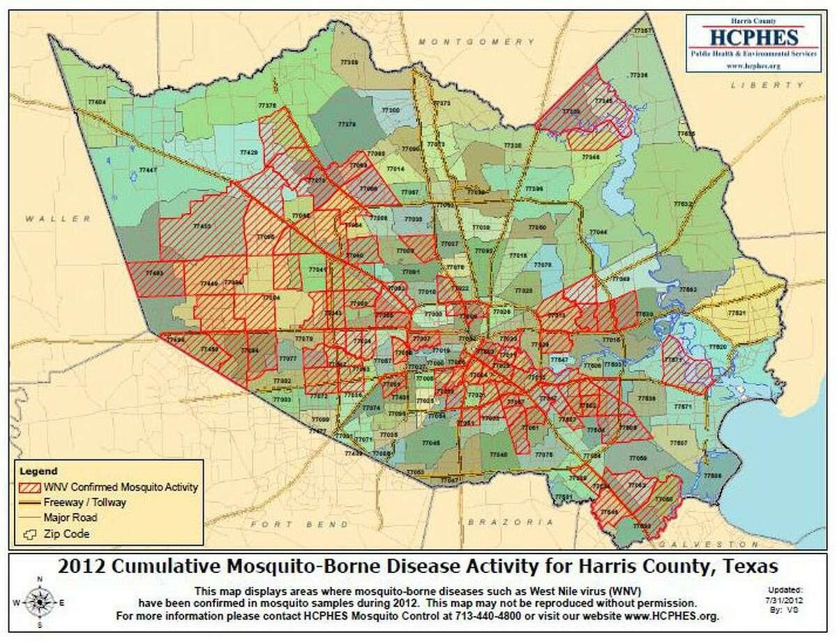 West Nile virus activity in Harris County 2012