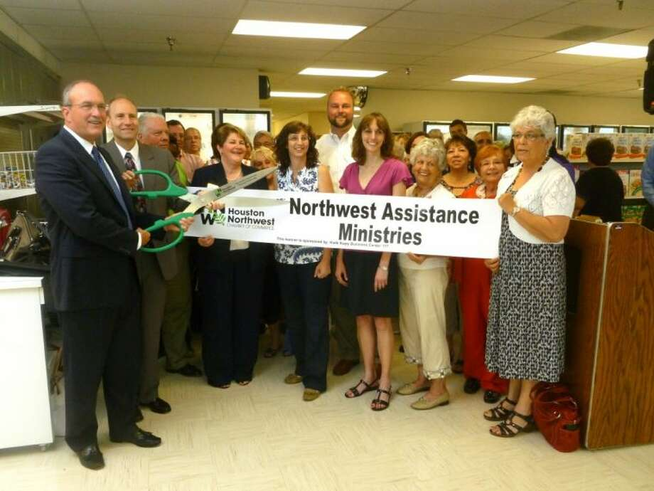 The Houston Northwest Chamber of Commerce held a ribbon cutting for Northwest Assistance Ministries' new Joanne Watford Nutrition Center.