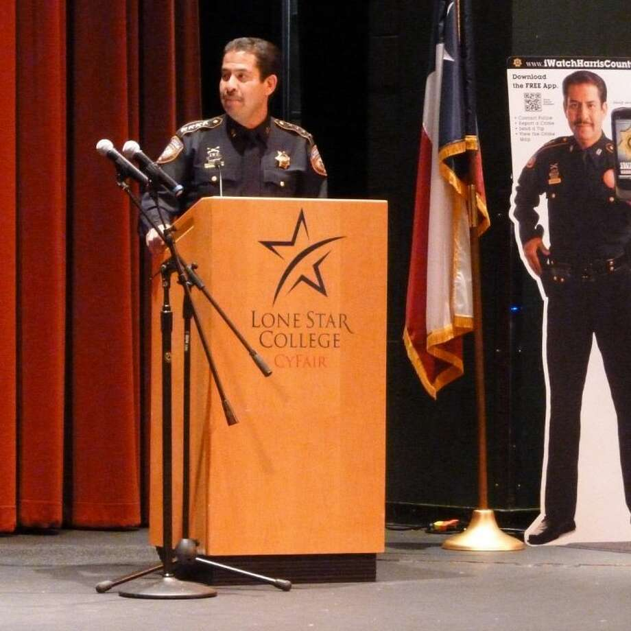 Harris County Sheriff Adrian hosted a town hall meeting at Lone Star College-CyFair.