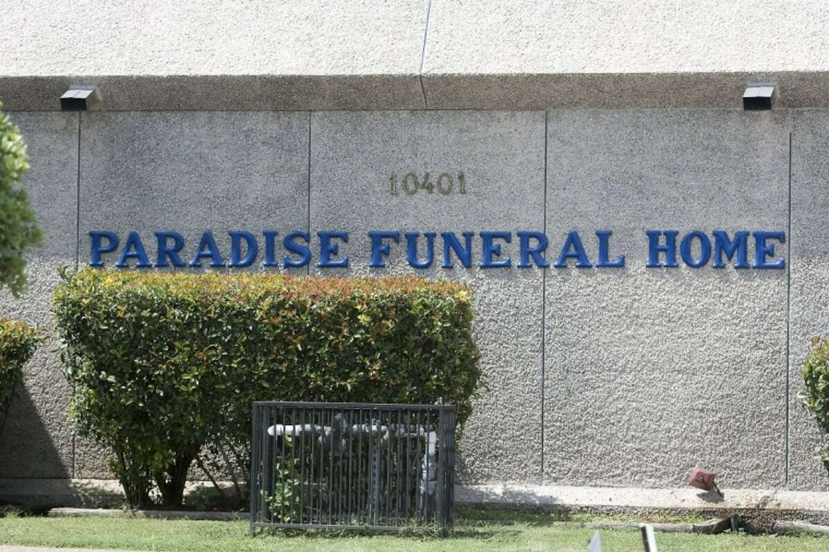 Paradise Funeral Home in Houston where a mob of angry funeral attendees attacked Patrick Williams on Friday. Williams was later transported to a hospital where he died.