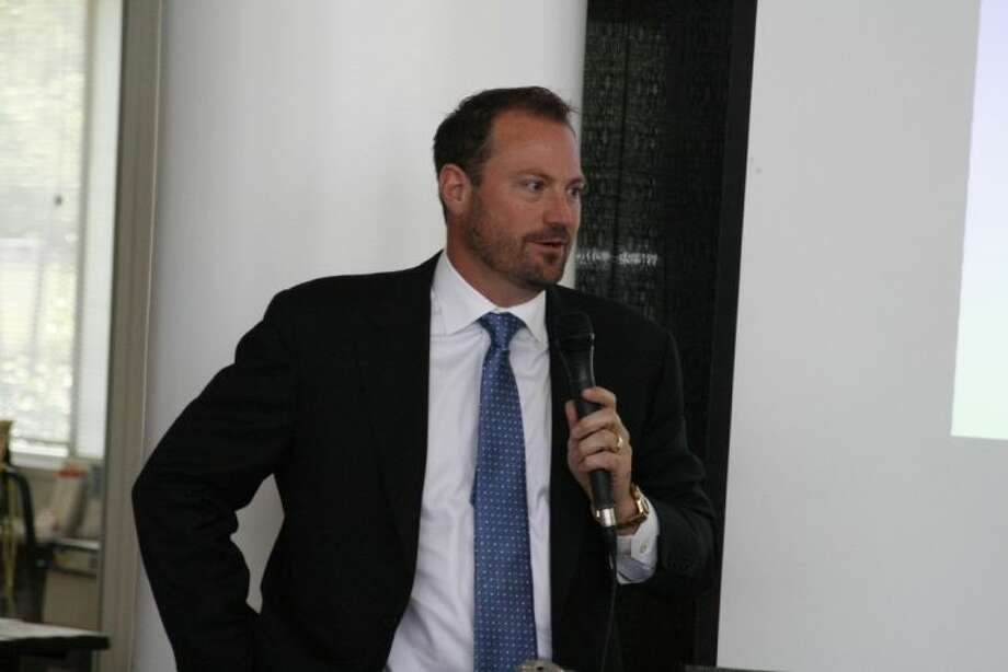 Valley Ranch Developer Danny Signorelli was one of the guest speakers at the Community Chamber of Commerce of East Montgomery County's packed-house monthly luncheon June 5.
