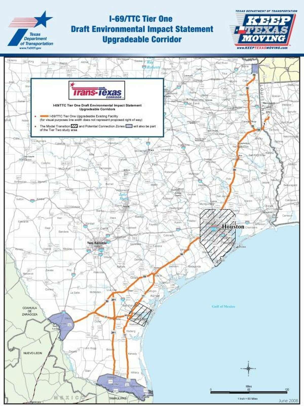 I-69 Texas Transportation Commission map
