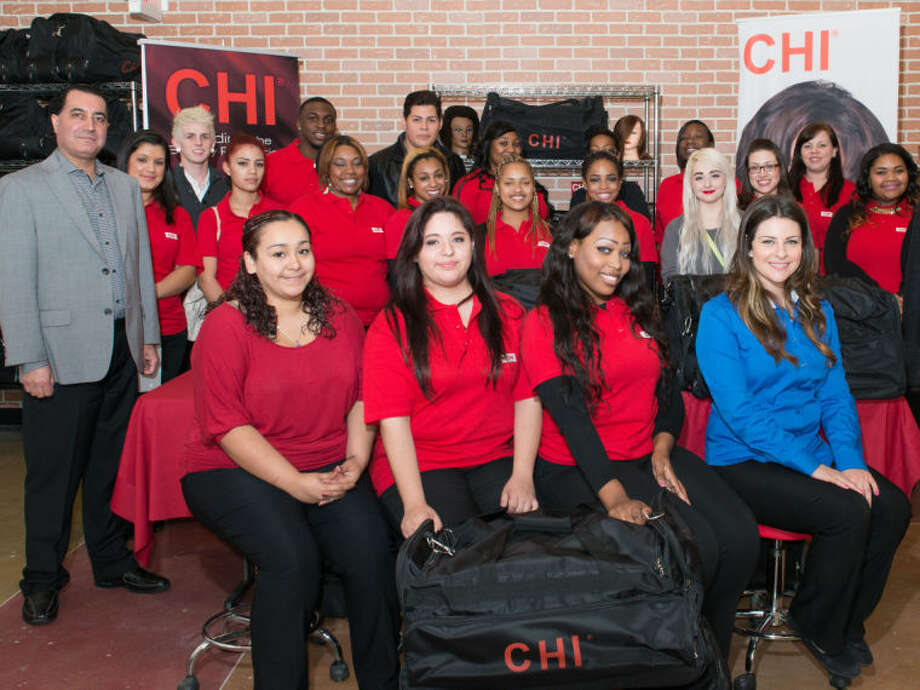 CHI Lone Star College-North Harris School of Cosmetology students recently hosted two community hair events, giving the students an opportunity to put their skills in action. The students, pictured here with Farouk Systems President and CEO Basim Shami (left), experienced the excitement and challenges of an active salon environment.