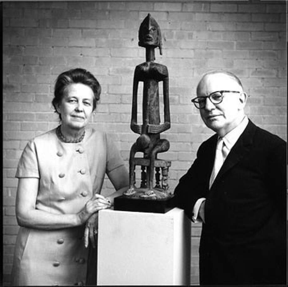 Photograph of Dominique and John de Menil in 1967 from the museum's archives.