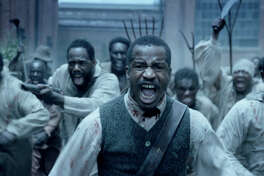 "Nate Parker portrays Nat Turner, leader of the 1831 slave rebellion, in ""The Birth of a Nation."""