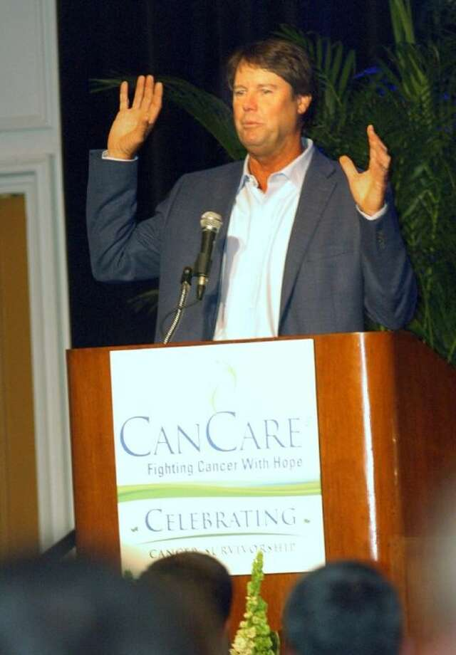 Professional golfer Paul Azinger, a surivor of non-Hodgkin lymphoma, delivered the keynote address Thursday at CanCare's National Cancer Survivor Day's luncheon.