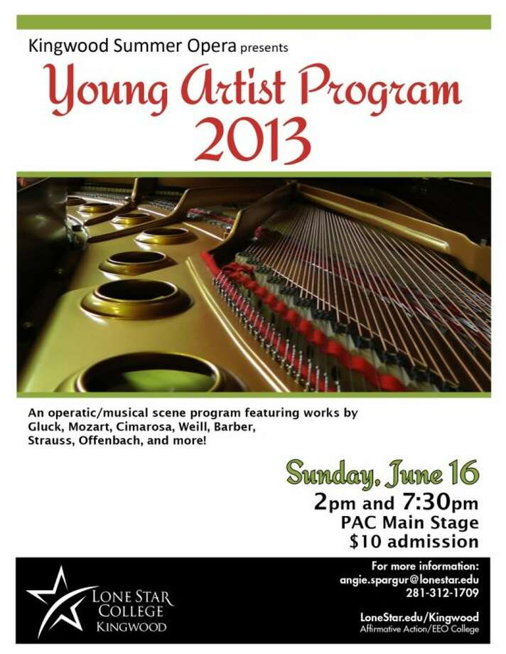 Lone Star College-Kingwood's Young Summer Artists Program invites the public to two performances June 16.
