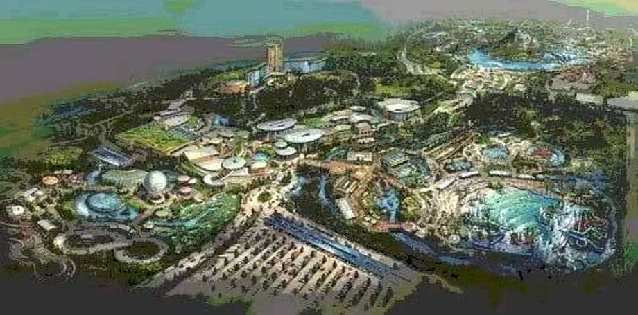 The developers for the EarthQuest Adventures theme park, Contour Entertainment, spoke about progress on the park at the EMCID Board meeting July 27, 2013.