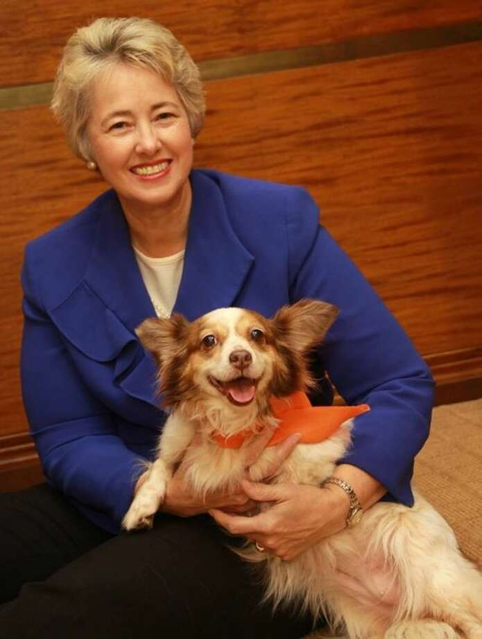 Mayor Parker with Flava, her BARC Dog of the Week.