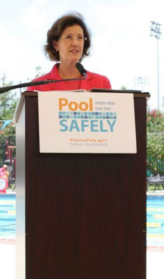 Inez Tenenbaum, Chairman of the U.S. Consumer Product Safety Commission addresses the media.