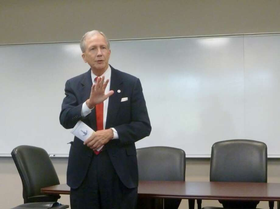 County Attorney Vince Ryan speaks to the Houston Northwest Chamber Public Safety Forum.