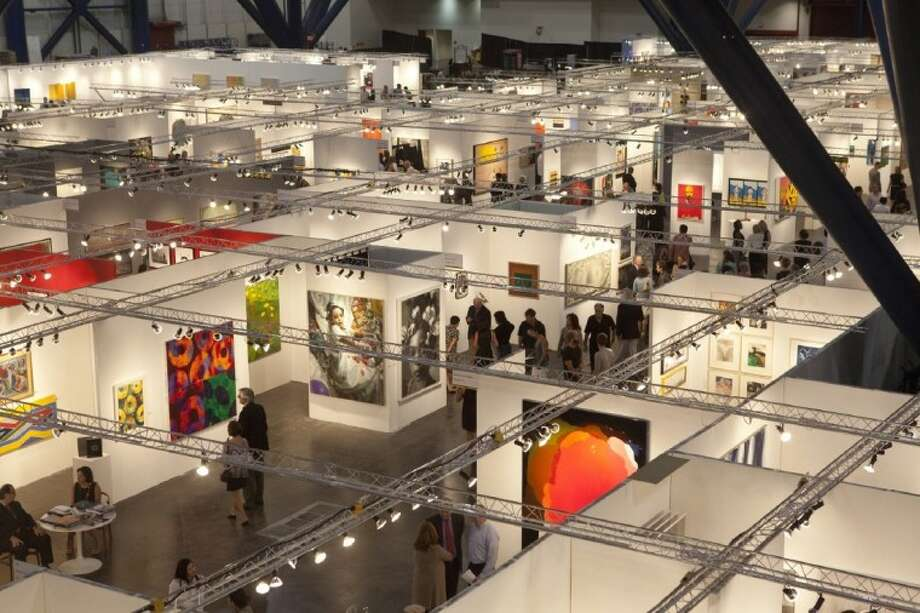 The show floor at last year's inaugural Houston Fine Art Fair at the George R. Brown Convention Center. This year's fair is Sept. 13-16 at Reliant Center.