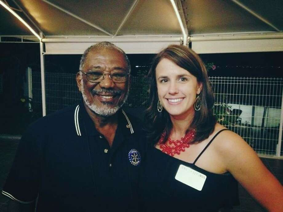 While traveling with the Rotary Exchange Program, Bergman met many Rotarians, including Assistant Governor James Ferris of St. Maarten. Photo: Submitted Photo