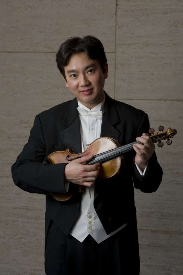 Houston Symphony Concert Master Frank Huang Photo: Jeff Fitlow