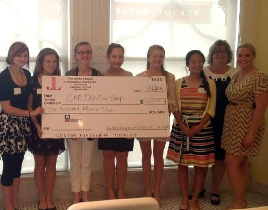 The Junior League of Galveston County, Inc. presents recipients with 2013 annual scholarships. Those high school seniors receiving scholarships include Megan Choate, Connor Clark, Tran Phuong Khanh Dang, Sarah Hughes, Sarah Keller, Sydney Kutowy, Meghan Mistry, Jordan Raschke, Sarah Schultz, and Heather Yang. Photo: SUBMITTED PHOTO