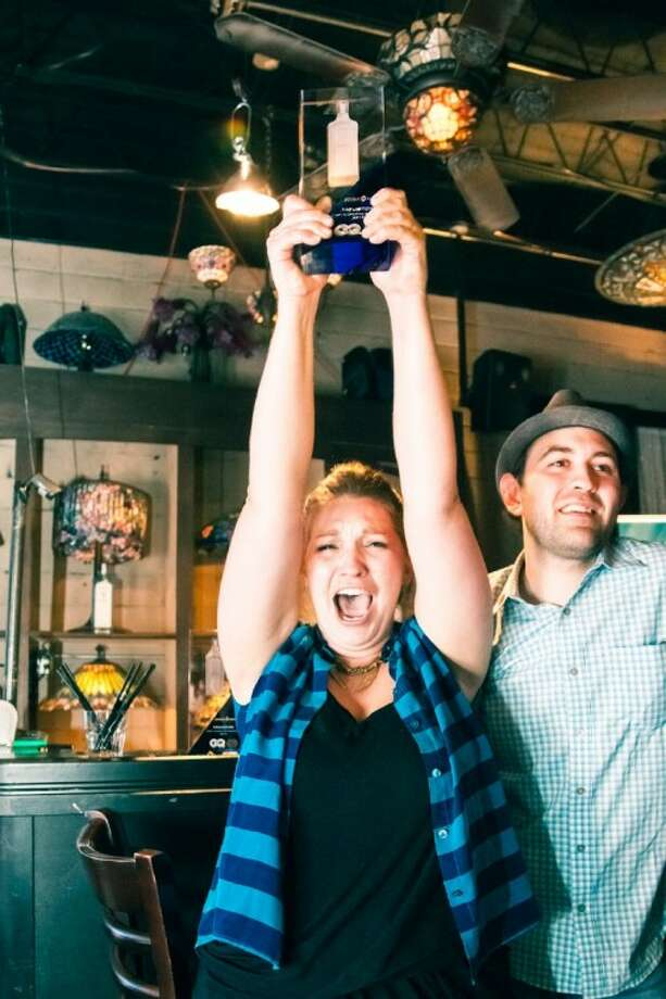 "Lindsey Heffron, a bartender at Liberty Station in Houston, recently won the ""Most Inspired Bartender"" title in Houston's competition. With the win she moved on to the national competition in Las Vegas Sept. 9-12."