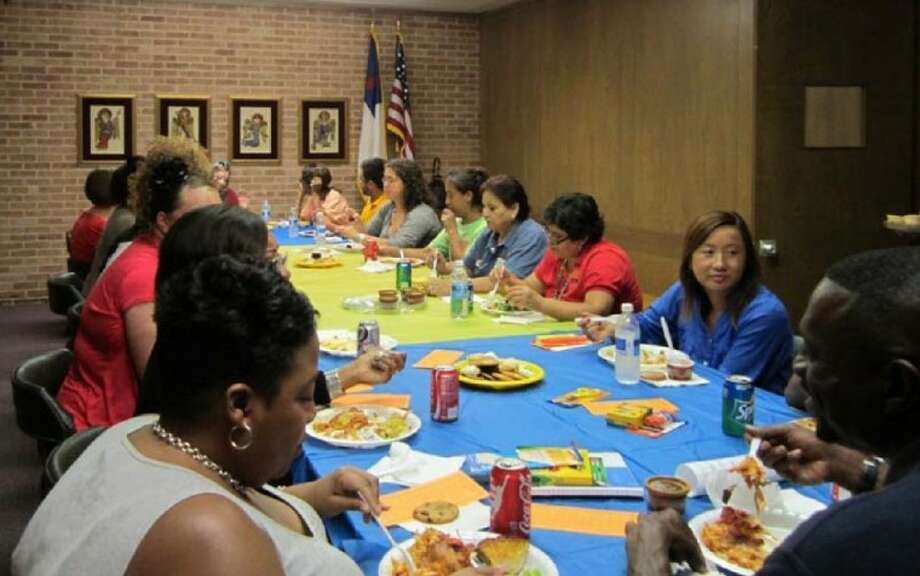 St. Luke's Presbyterian Church hosted 80 teachers and staff members from Longfellow Elementary Aug. 24 in a luncheon that has become a tradition.