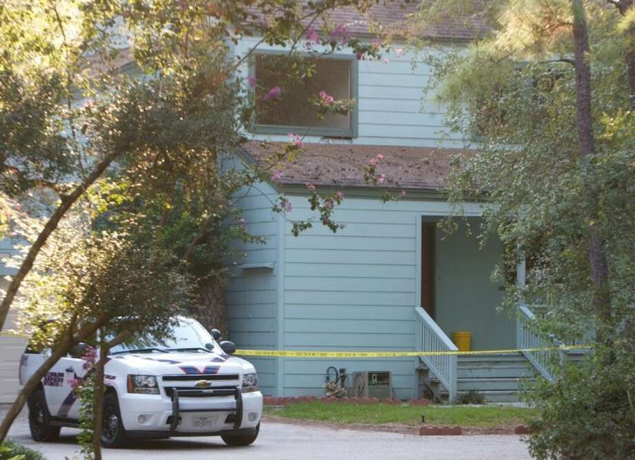 A Montgomery County Sheriff's Office patrol vehicle is seen outside a home that was quarantined in the 11000 block of Slash Pines Drive in The Woodlands after a person who helped clean debris from the home was diagnosed with hantavirus.