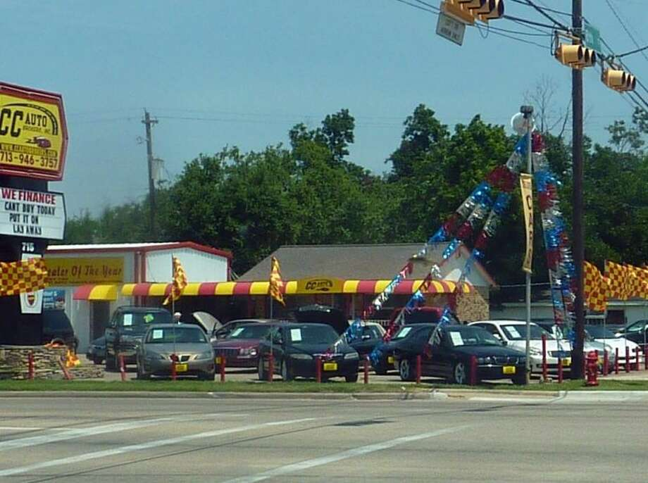 According to Harris County court records, the charges against Councilmember Robert Garcia are related to a car accident that occurred at this intersection on May 26, 2013. Police records indicate Garcia's son, Robert R. Garcia is alleged to have run a red light, crashed into another car and hit a pole and two other cars at this auto dealership on on Spencer Highway. Photo: KRISTI NIX
