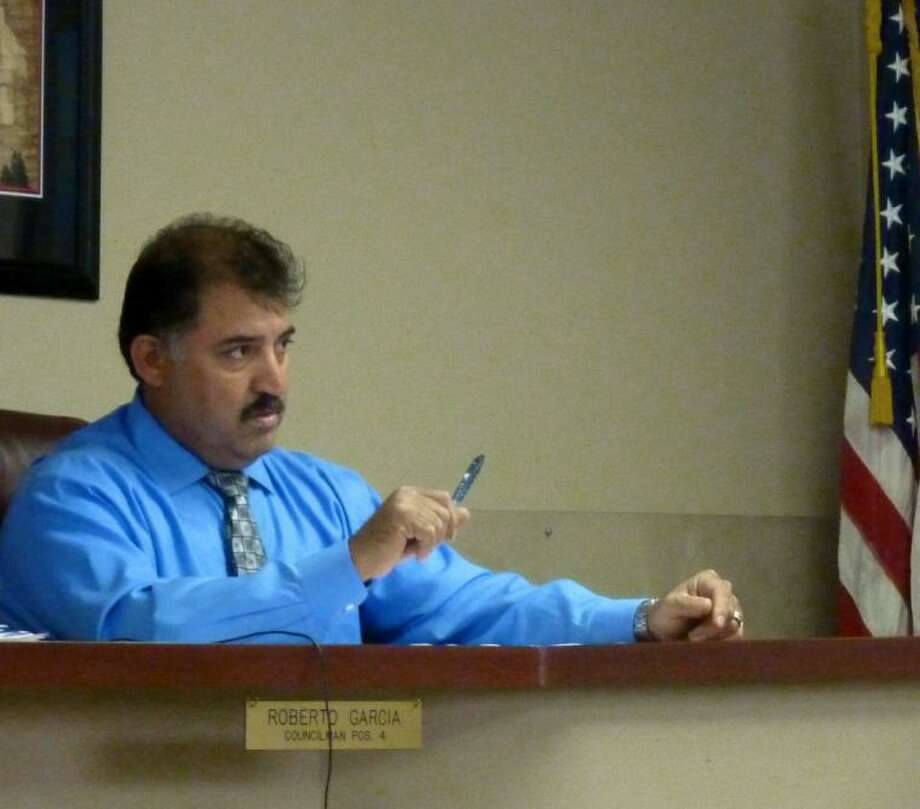 South Houston City Councilmember Robert A. Gonzalez was arrested on two felony counts of bribery Thursday (June 27). He is pictured here speaking at the City Council meeting earlier in the week on Tuesday (June 24). Photo: KRISTI NIX
