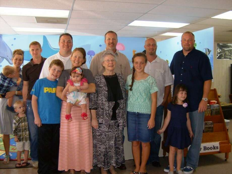 Members of the Jones family attended a dedication ceremony on Sept. 1 that renamed the children's section of the library as The Jones Children's Room. The room was renamed in honor of former Shepherd mayor and philanthropist Donald Ray Jones. Photo: Submitted Photo