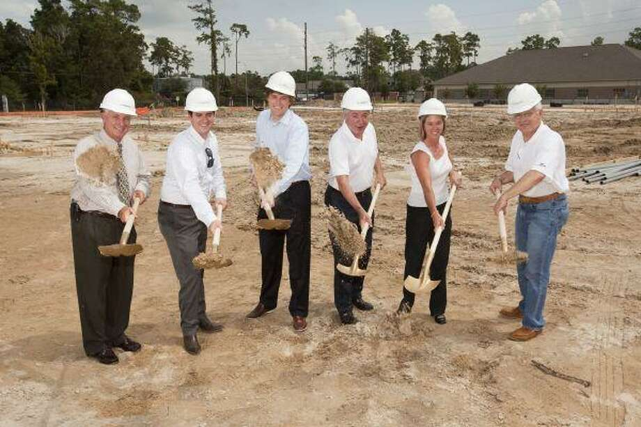 The LaSalle Group recently broke ground on Autumn Leaves of Cypresswood, a Alzheimer's and memory care assisted living community. From left, Ron Dagley, The Betz Companies; Mitchell Warren, LaSalle Group; Jason Glover, LaSalle Group; Win Warren, LaSalle Group; Brenda Brantley, LaSalle Group; and Rick Slavin, Silverado Investments. / Bruce Bennett 2010 and beyond