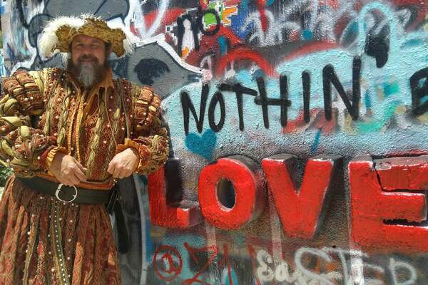 At the beginning of this summer, the King of the Texas Renaissance Festival embarked on a tour through the state of Texas, hitting up Austin, San Antonio, Dallas, Fort Worth and ending in Houston. Here's hoping he stayed hydrated.