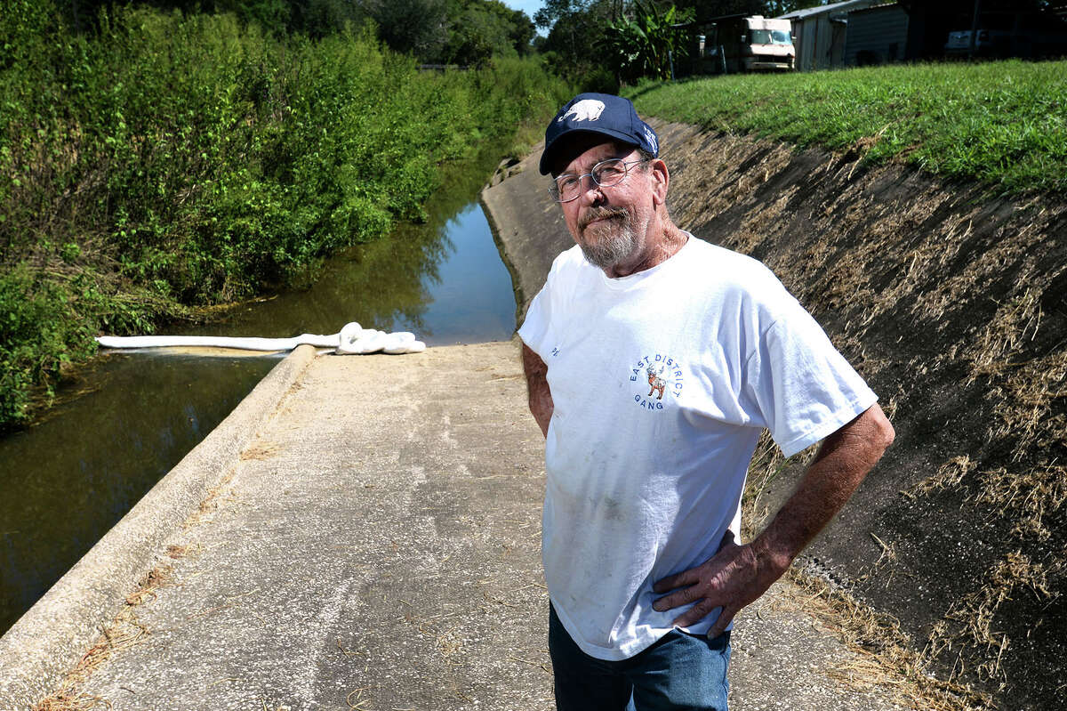 Pat Evans stands on a ramp to the Willow Marsh Bayou where a chemical spill occurred last week. After more than 40 years living near the bayou Evans said he has witnessed several spills in the area, but the most recent was the only incident he has seen professionally cleaned. Photo taken Wednesday, September 28, 2016 Guiseppe Barranco/The Enterprise