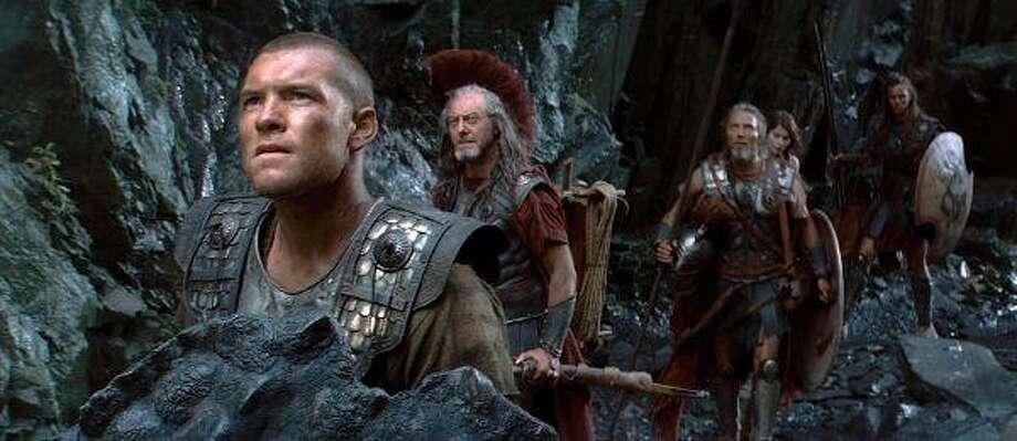 """Sam Worthington, left, plays Perseus in """"Clash of the Titans."""""""