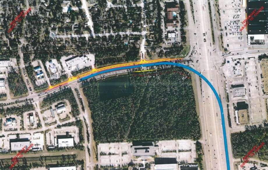 A proposed flyover at Interstate 45 and Research Forest Drive is planned to help ease traffic congestion and help with mobility in the area.