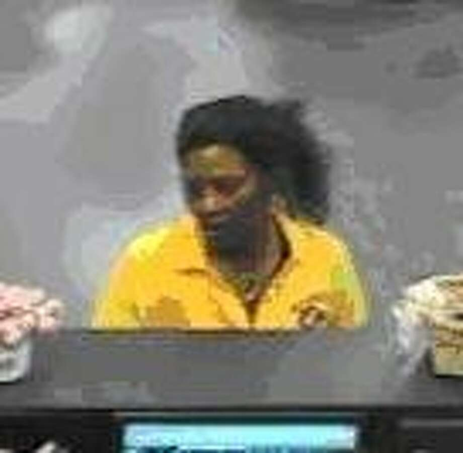 Surveillance cameras captured images of the suspect inside the bank.