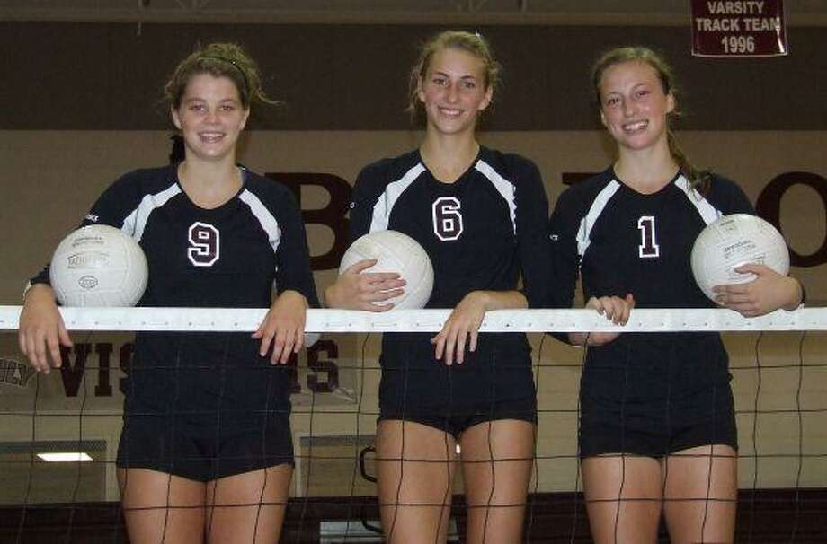 Magnolia High seniors (from left) Katzy Randall, Courtney Felinski and Paige Holland played in the state tournament as sophomores.