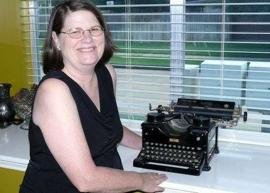 Cypress Springs High School teacher Charlotte Godsey found a free typewriter through lsln.org and now uses it as a teaching tool in her classroom.