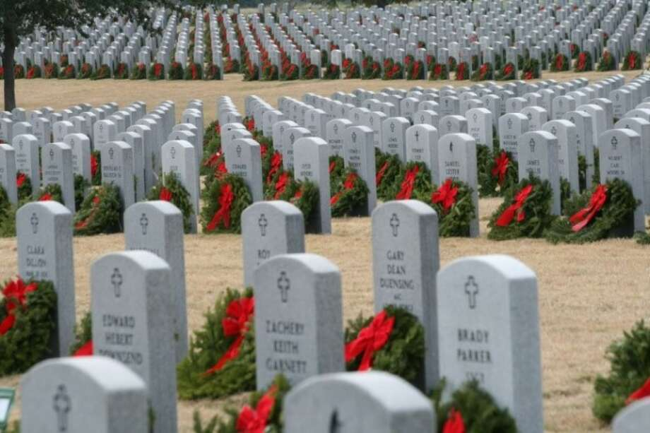 Wreaths Across America Houston is raising money to place a live Maine wreath upon all of the 59,000-plus fallen heroes gravesites at the Houston National Cemetery. To find out more, visit www.waahouston.com. Photo: Submitted Photo