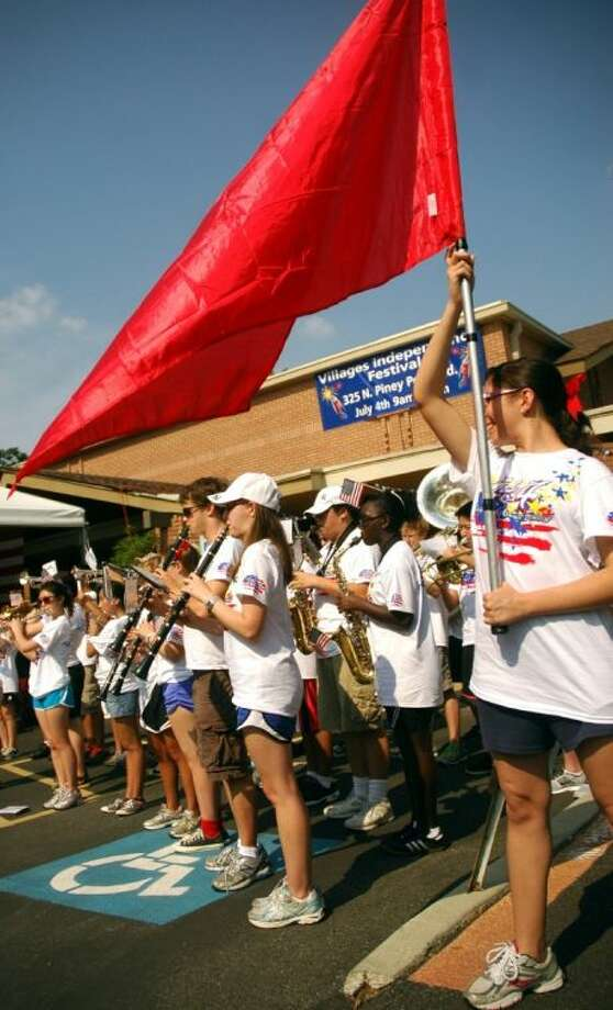 The Spring Branch ISD Honor Band plays during the Villages Independence Festival opening ceremony. Photo: Rusty Graham