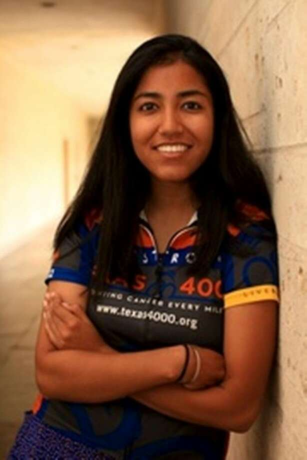 Akanksha Verma, a 2009 graduate of Clear Lake High School and University of Houston senior, is one of 69 UT students who are spending roughly 70 days to ride from Austin to Anchorage, Alaska to raise money for cancer research. Photo: Submitted Picture