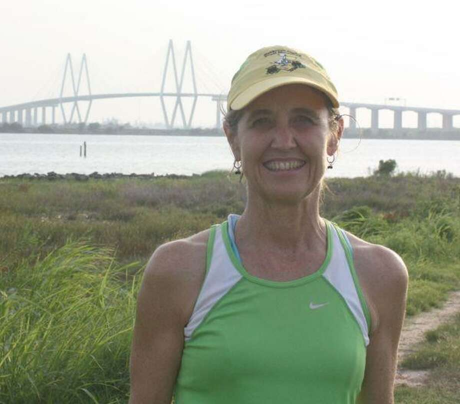 With her objective over her right shoulder, Terry Frank plans to complete five loops over the Fred Hartman Bridge, starting in the early morning hours of Sept. 5 and finishing, she hopes, inside seven hours. It'll serve as a warm-up for the inaugural Bay-to-Bridge Half Marathon on Dec. 5 when runners will reserve part of their 13-mile run by traveling over the Fred Hartman.
