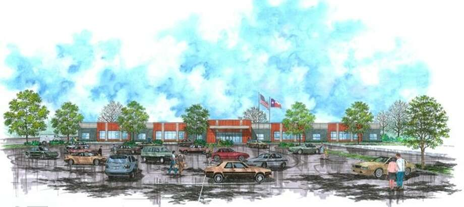 The Tomball VA Clinic, depicted in this drawing, is expected to open in July 2013 at 1200 Main Street in the old Klein's Grocery building. Photo: Submitted Photo