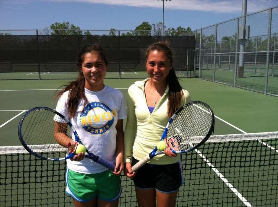 Tomball Memorial Doubles Tennis Team Michelle Walker (left) and Teresa Sanchez (right) Photo: David Fanucchi
