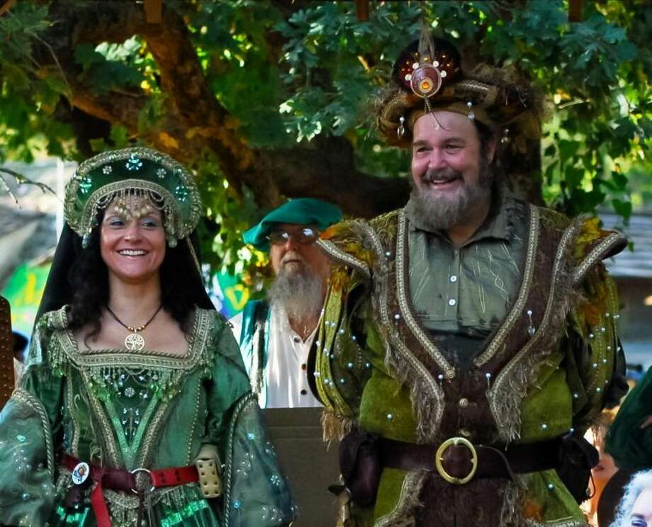 The Texas Renaissance Festival's King and members of his court join HFAC at the Berry Center