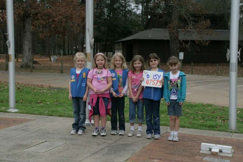 Daisy Girl Scouts from Troop 7575 in Seabrook are, left to right: Kaila Smith, Hannah Chambers, Tallulah Stephens, Sierra Porter, Madeline Turner and Breanna Jeanke. Photo: SUBMITTED PHOTO