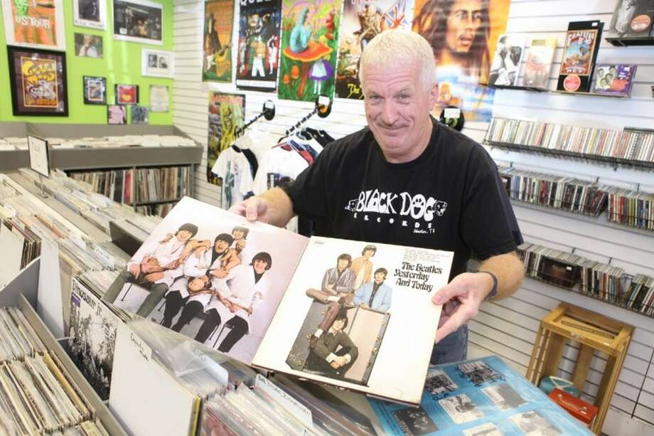 Finding vinyl that appeals to collectors, such as The Beatles' Yesterday and Today with the butcher cover inside, has kept Cliff Dotterer in business at Black Dog Records for nearly 15 years.