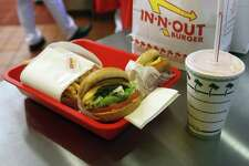 An order is seen during the grand opening Thursday Nov. 20, 2014 of San Antonio's first In-N-Out Burger. The California company opened its third area location Thursday on the city's far North Side.